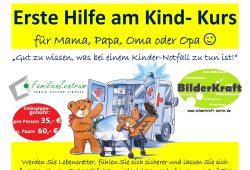 Plakat für Kurs Erste Hilfe am Kind