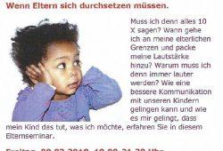 """Elternseminar """"Wege aus der Brüllfalle"""""""