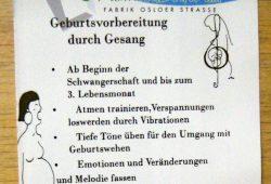Geburtsvorbereitung durch Gesang Flyer