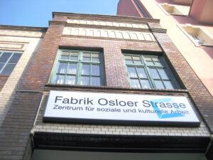 Auch die Fabrik Osloer Straße ist im Lockdown